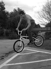 air. ([s.lim]) Tags: boy guy college bike campus bmx wheels tricks calpolypomona