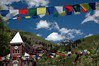 Clock Tower Prayer Flags