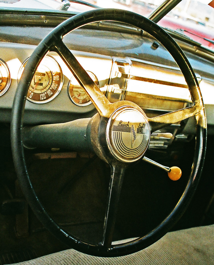 steering wheel from old car