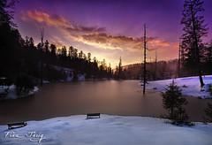 Banjosa Lake (Fiaz Tariq) Tags: trip pakistan sunset mountain lake snow color love nature beautiful pine out evening frozen is asia heaven god earth ak class falling bles
