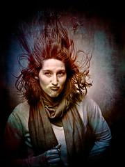 Oh yeah! (LShadrack) Tags: portrait texture sarah photoshop nc olympus e3 vignette lightroom 1260 strobist capa12