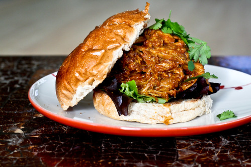 Indian Pulled Pork Sandwiches