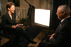 Rachel Maddow with Colin Powell (The Rachel Maddow Show) Tags: msnbc colinpowell rachelmaddow therachelmaddowshow