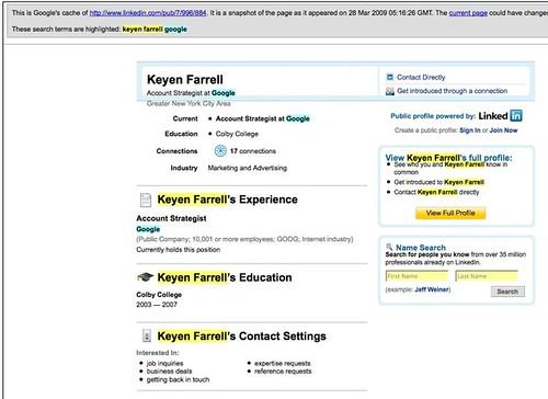 Farrell On LinkedIn