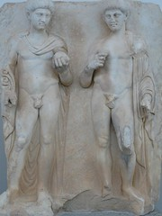 two princes stand like statues (peterpeers) Tags: sculpture turkey claudius afrodisias ancienttimes romanperiod sebasteion juliandynasty