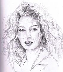 Katja Schuurman (2009) (annevancamp) Tags: portrait art pencil sketch artwork drawing portret bnn tekening schets potlood katjaschuurman