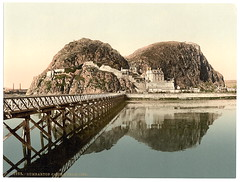 [Castle from pier, Dumbarton, Scotland] (LOC) (The Library of Congress) Tags: scotland riverclyde pier citadel capital libraryofcongress fortification volcanicplug dumbartoncastle britons dumbartonrock alcluith xmlns:dc=httppurlorgdcelements11 dc:identifier=httphdllocgovlocpnpppmsc07567 kingdomofstrathclyde