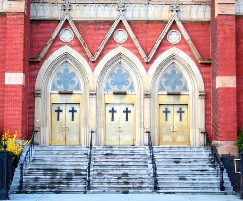 church three newjersey jerseycity doors entrance montyhallproblem