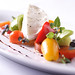Buffalo mozzarella with heirloom tomatoes and micro basil