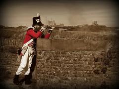 Grenadier Company 3rd Battalion - 1st Footguards 1815 (Paul @ Doverpast.co.uk) Tags: colour sepia 1st company 3rd selective dovercastle 1815 selectivecolour battalion grenadier footguards westernheights dropredoubt