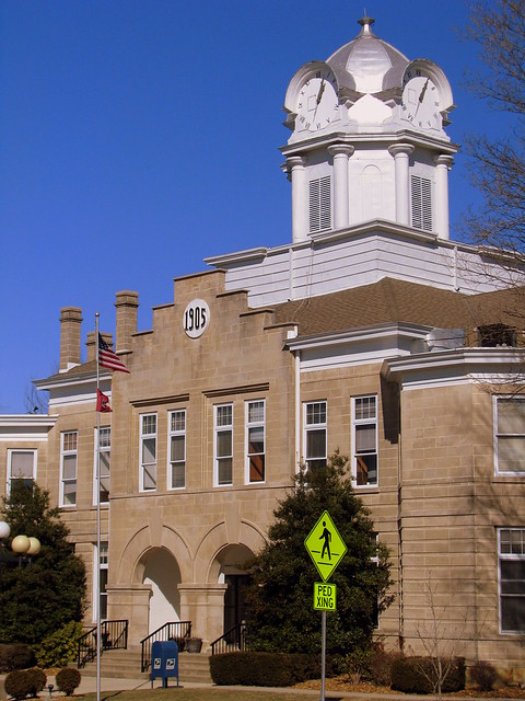 Cumberland Co. Courthouse 4: Tall angled view
