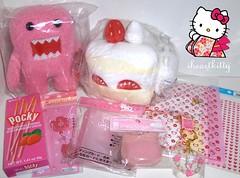 swap for ♥ YuMi x PeaCH ♥ (iheartkitty) Tags: pink japan japanese hellokitty sanrio swap domo kawaii pocky sanx nyanko