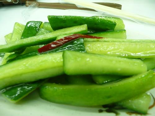 Dinner in Hsin Tien - Cucumber