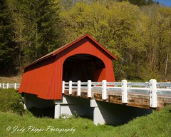 Fisher Covered Bridge (RU4SUN2) Tags: history oregon coveredbridge kissingbridge lincolncounty oregoncoveredbridges lincolncountyoregon fisherschoolcoveredbridge