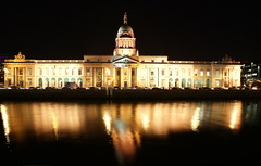 Custom House Night Shot (Alan Wrights) Tags: city dublin house reflection night river liffey custom