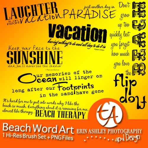 EAD Beach Word Art