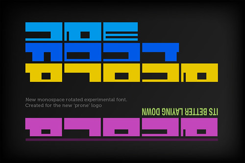 Prone 'Experimental' Font Preview
