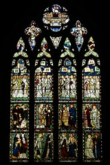 East window memorial to William Croome - All Saints - Middleton Cheney