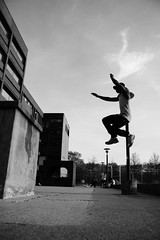 DSC08221 (earlmadness) Tags: white motion black nature outside jump extreme free running human always aim parkour backflip phyiscal