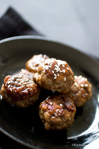 Five Spice Pork Balls in a Sesame Brown Sugar Glaze