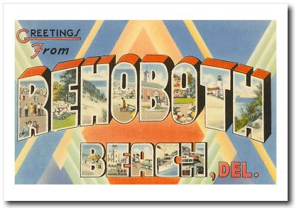 Greetings from Rehoboth Beach, Delaware Art Print