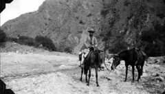 On the trail at Piedra Blanca (The Field Museum Library) Tags: expedition southamerica argentina fossil paleontology geology collecting marshallfield fossilcollecting elmerriggs paleontologicalexpedition robertthorne rudolfstahlecker felipemendez