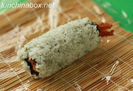 Fried shrimp sushi roll