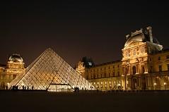 Ночной Париж. Лувр