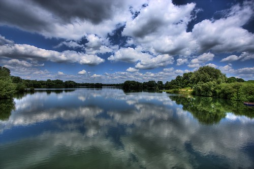 フリー画像| 自然風景| 湖の風景| 雲の風景| ドイツ風景|       フリー素材|