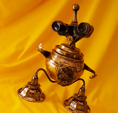 robot sculpture * JESTER - The Comical Steampunk Jewelry Box Robot (Reclaim2Fame) Tags: sculpture metal altered vintage robot box recycled handmade assemblage oneofakind ooak humor personality robots binoculars figure figurine creatures creature foundobject bots trinket alteredart jewelrybox steampunk merz humanfigure recycledmaterial trinketbox metalrobot jewelryholder keepsakebox robotsculpture usableart artrobot steampunkart reclaim2fame steampunksculpture assemblagerobot willwagenaar williamwagenaar steampunkassemblage junkrobot foundobjectrobot reclaimrobot reclamationart wagenaarstudio steampunkcreature