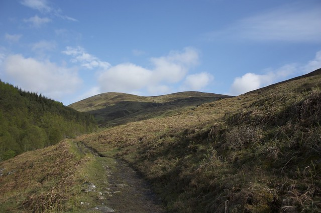 Blue skies over Meall Garbh
