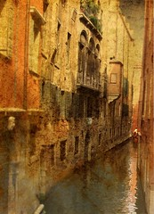 JSS in Venice (Visualtricks) Tags: venice orange man water la afternoon textures impression sargent fa gondolier differenza  lamicizia memoriesbook  beautiful ilovesargent