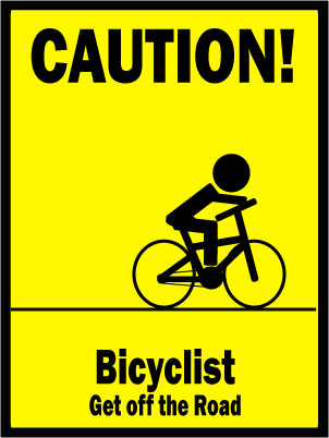Bicyclist Caution Sign