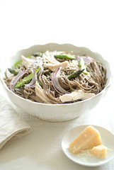 happy pasta (mwhammer) Tags: food color texture chicken fun asparagus noodles elegant simple parmesan shredded wholesome grated redonion elemental disply inabowl melinahammer foodandpropstyling