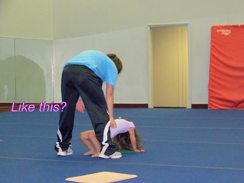 June 09 First Gymnastics Class  004