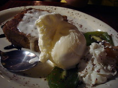 supper at kalalu: bread pudding with ice cream. (sheep sheep) Tags: food montreal caribbean stdenis kalalu