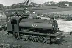 Bagnall 2759 Wemyss Private Railway No 16 18 April 1965 (pondhopper1) Tags: blackandwhite white black industrial steam railways ncb uksteam