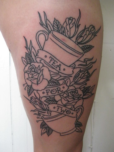 new, done on 6/12 on my (very swollen) right thigh