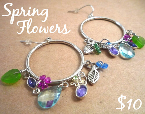 Spring flowers earrings.