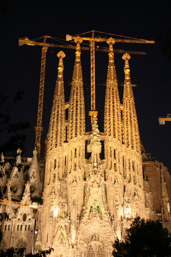 Sagrada Familia, temple in Barcelona, Spain. by Macdonnelliensis.