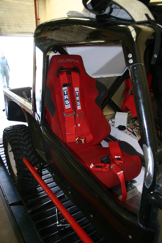 Drivers seat with belts fitted