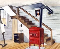 Ault, Geoerge (1891-1948) - 1938 Studio Interior (Smithsonian American Art Museum) (RasMarley) Tags: smithsonian 1930s 1938 american painter 20thcentury realism ault studiointerior georgeault precisionism