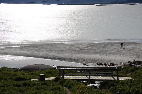 引き潮の時あらわれる砂浜