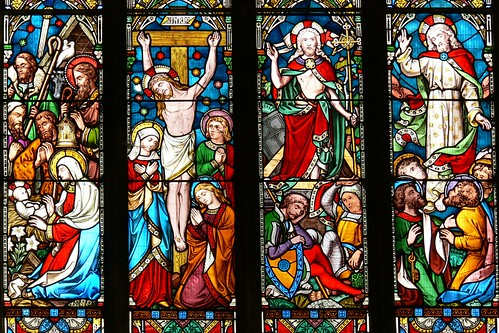 East window, St Andrew - Lyddington