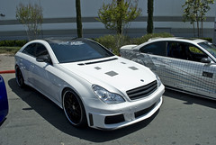 CLS55 (Lord Bas) Tags: white black mercedes benz 2009 amg cls hre cls55 jtuned