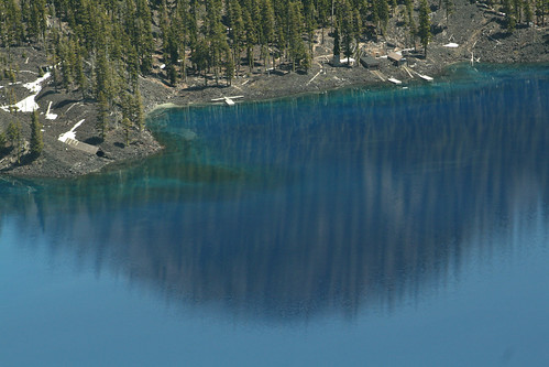 Crater Lake near the island - taken with telephoto lens