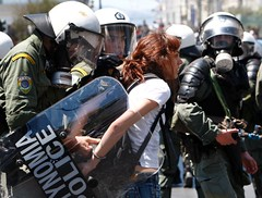GREEKS PROTEST AUSTERITY CUTS