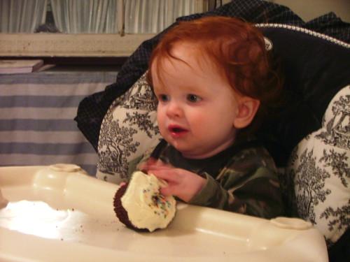 1 year old cupcake