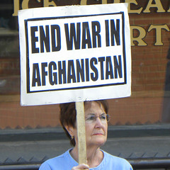 Protest against Afghanistan war funding at the office of Representative McCollum - by Fibonacci Blue