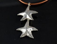"""Starfish"" Silver Necklace (EfratJewelry) Tags: silver handmade jewelry jewellery sterling 925 silversmith metalsmith sterlingsilver כסף סטרלינג תכשיטים שרשרת תליון תליונים שרשראות צורפות עיצובתכשיטים efratjewelry"